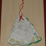 Unpainted recycled paper ornament - Virtually Montessori