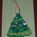 Virtually Montessori - recycled paper ornament