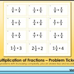 Multiplication of Fractions Problem Tickets