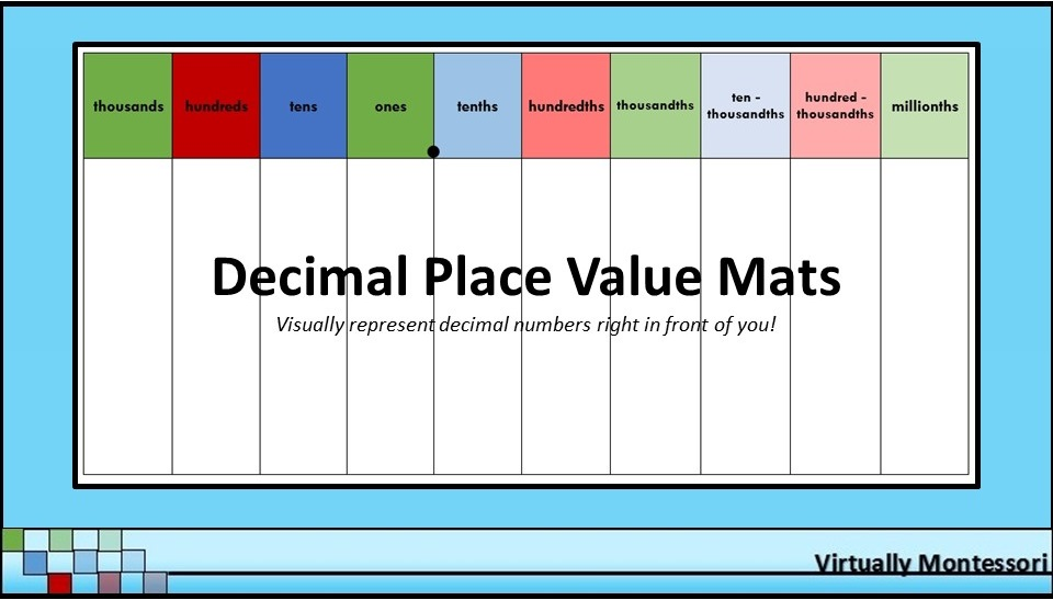 Decimal Place Value Chart Index Of Pictures to pin on Pinterest