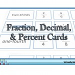 Fraction, Decimal, and Percent Cards