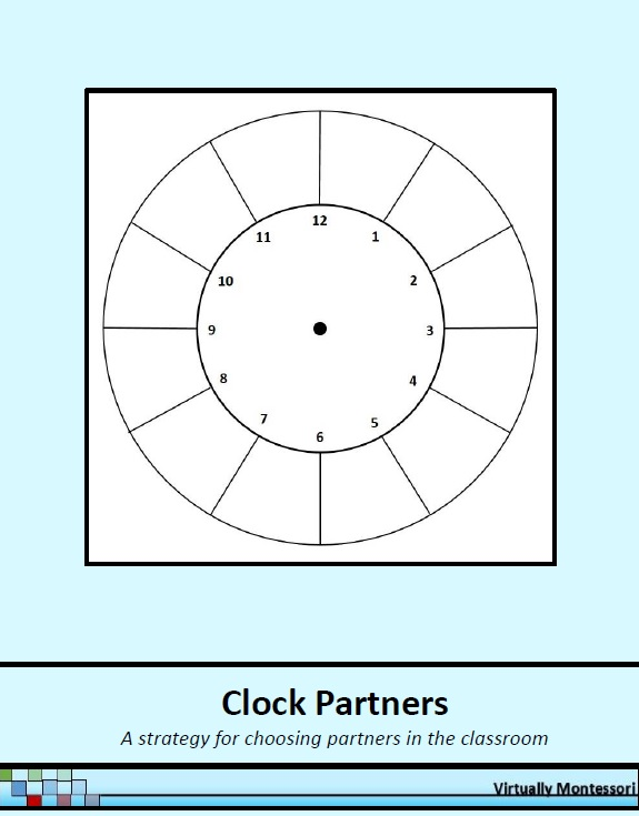 Clock partners: choosing partners in the classoom