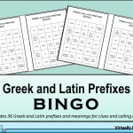 Greek and Latin Prefixes Bingo